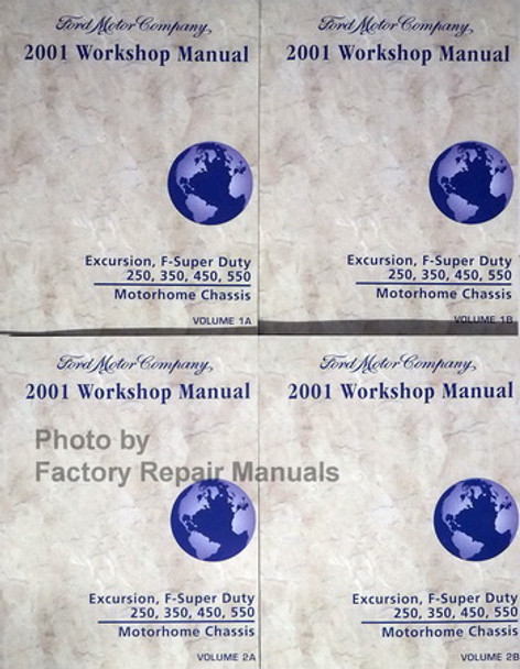 2001 Ford F250 F350 F450 F550 Super Duty Truck  Excursion Factory Shop Service Manual Set New