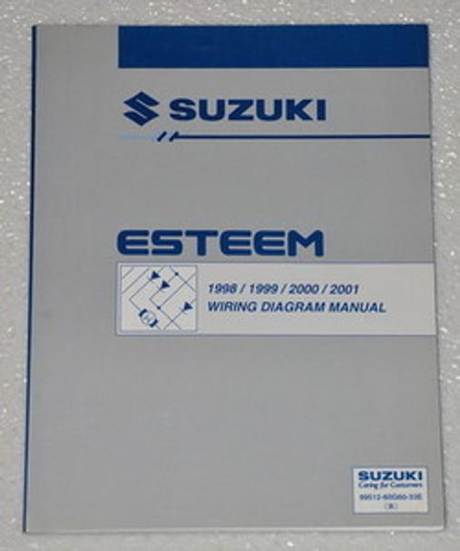 1998 2001 Suzuki Esteem Electrical Wiring Diagrams Shop Manual Gl Glx  1999 2000