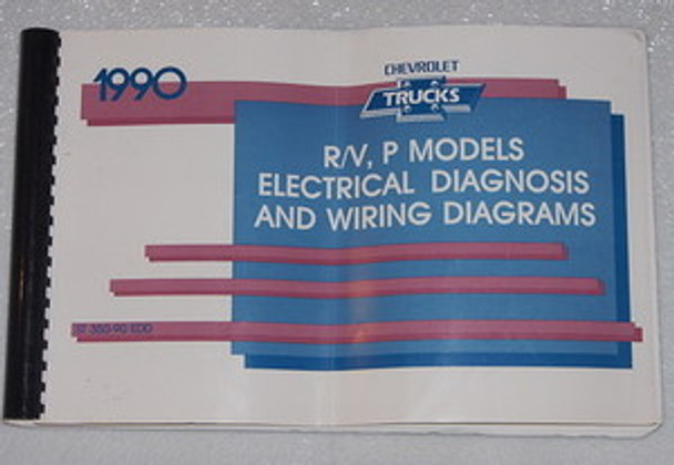 1990 Chevy R V Truck Suburban Blazer P30 Electrical Diagnosis Wiring Diagrams Manual Factory Repair Manuals