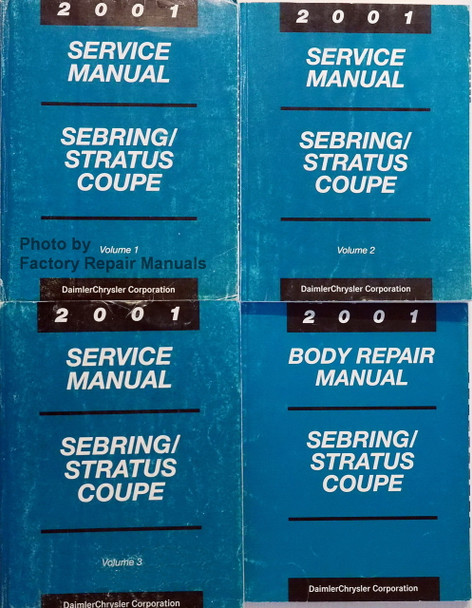2004 Sebring Stratus Coupe Service Repair Set 4 Volume Set