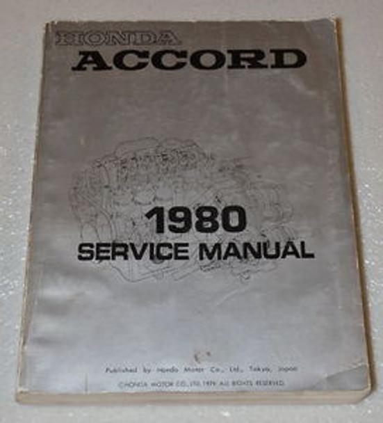 1980 Honda Accord Factory Service Manual Original Shop Repair