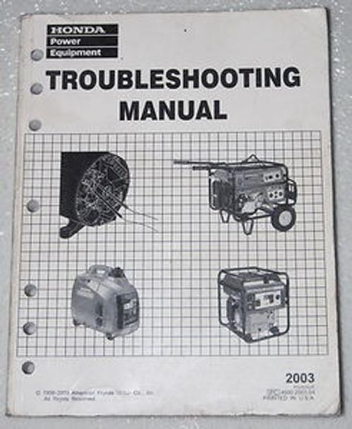 2003 HONDA GENERATOR Troubleshooting Manual 1000 2000 3000