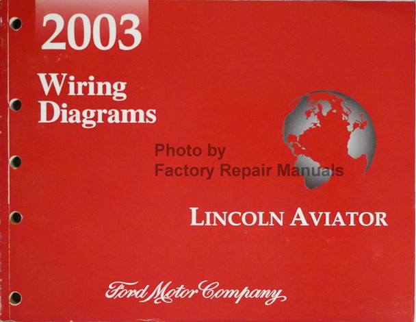 2003 Lincoln Aviator Electrical Wiring Diagrams Original