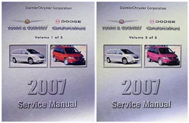2007 Chrysler Town & Country, Dodge Caravan Service Manual Volume 1, 2