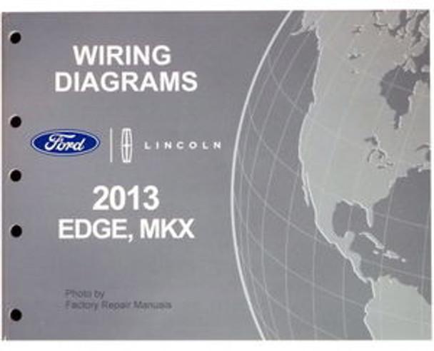2013 Ford Edge  U0026 Lincoln Mkx Electrical Wiring Diagrams Manual Original
