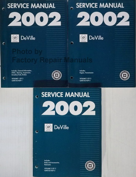 2002 Cadillac Deville Service Manual Volume 1, 2 and 3