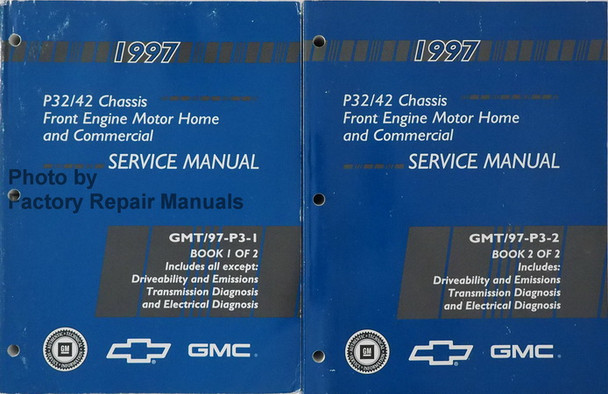 1997 Chevy P30 P32 P42 Motor Home and Commercial Chassis Factory Service  Manual Set