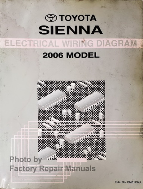 2006 Toyota Sienna Electrical Wiring Diagrams Original Shop Manual