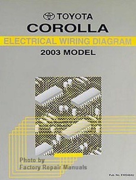 2003 Toyota Corolla Electrical Wiring Diagrams