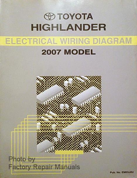 2007 Toyota Highlander Electrical Wiring Diagrams Original ...