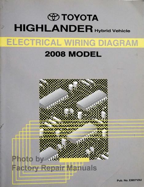 2008 Toyota Highlander Hybrid Electrical Wiring Diagrams