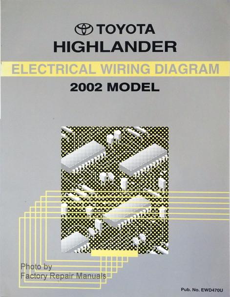 2002 Toyota Highlander Electrical Wiring Diagrams Original Factory Manual