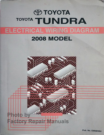 2008 Toyota Tundra Electrical Wiring Diagrams Original - Factory Repair  ManualsFactory Repair Manuals