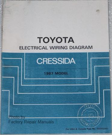 1987 Toyota Cressida Electrical Wiring Diagrams Original Manual Factory Repair Manuals