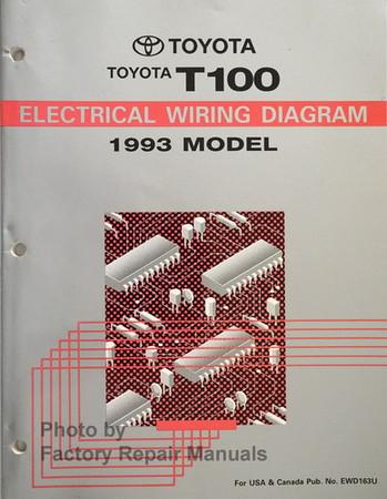 1993 Toyota T100 Truck Electrical Wiring Diagrams Original Factory Repair Manuals