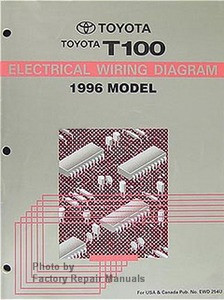 1996 Toyota T100 Truck Electrical Wiring Diagrams Original - Factory Repair  ManualsFactory Repair Manuals