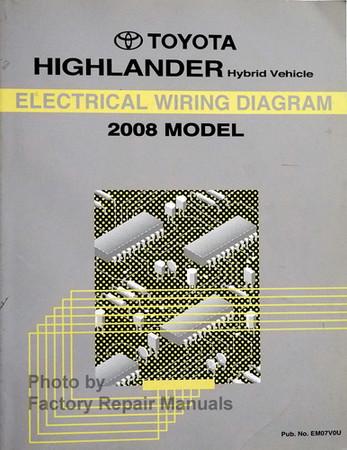 2008 Toyota Highlander Hybrid Electrical Wiring Diagrams ...