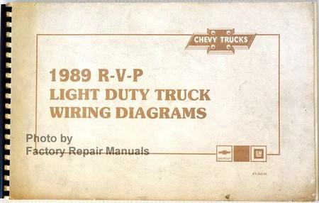 1989 Chevy R V P Pickup Truck Suburban Van Original Wiring ...
