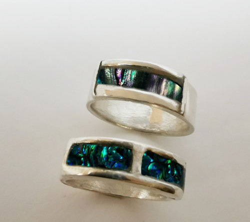 Abalone Band Ring Extended Viewing