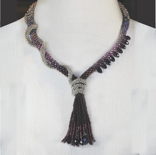15-0421.06 Kumihimo Twisted Tassel Necklace