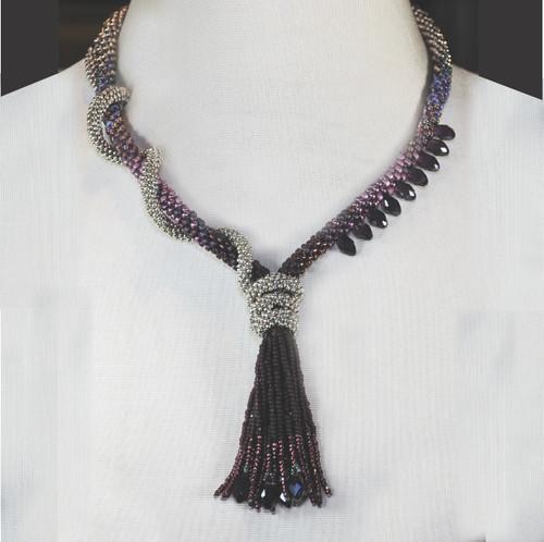 15-0421.06 Kumihimo Twisted Tassel Necklace