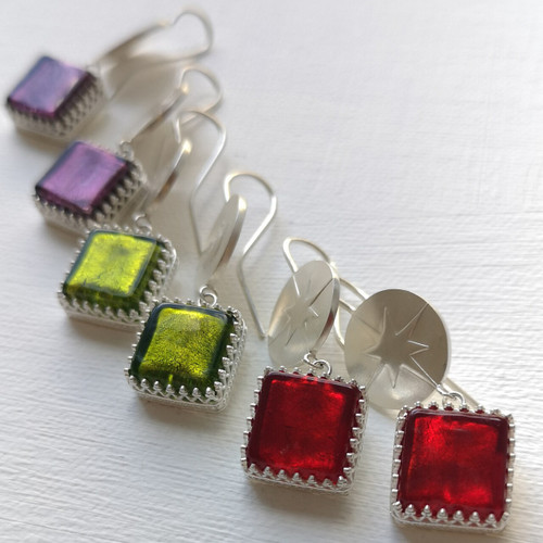 18-0421.10 Murano Glass Earrings