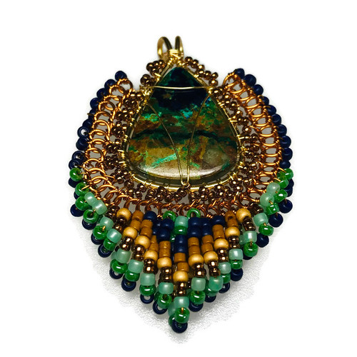 Bezeled Gemstone Pendant Extended Viewing