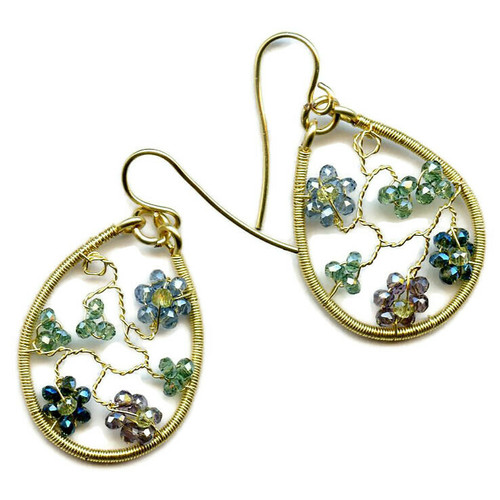 16-0421.07 Twisted Wire Floral Earrings