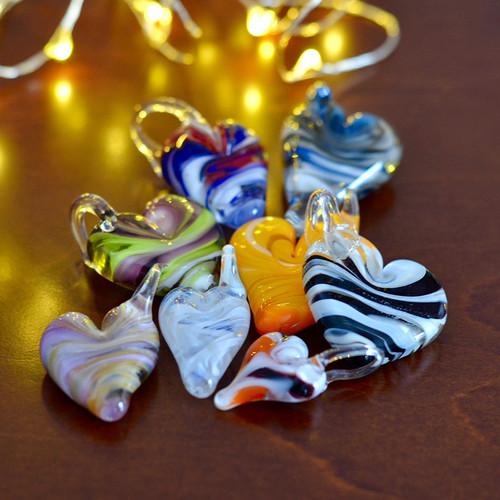 17-0421.03 Off Mandrel Lampwork Heart Pendant