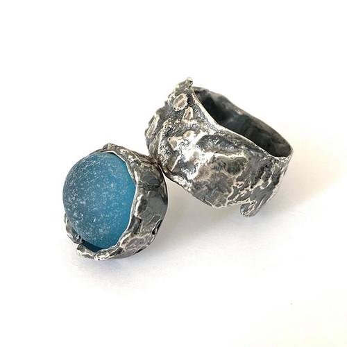 21-1021.21 Fused Silver Scrap Ring