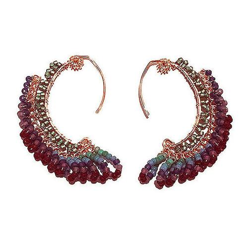22-1021.05  Colorful Swoop Earrings