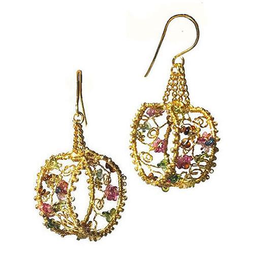 24-1021.09  Floral Hoop Earrings