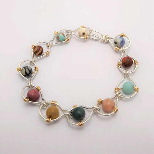 21-1021.11  Chained Gemstone Bracelet