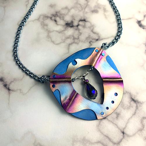 21-1021.27 Freyja's Shield Necklace & Earrings