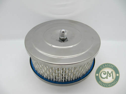 "16-26 Chrome Air Filter - Suit 1 1/4"" SU Offset"