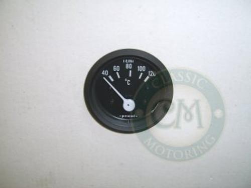 Temperature Gauge - Black Rim (Celcius)