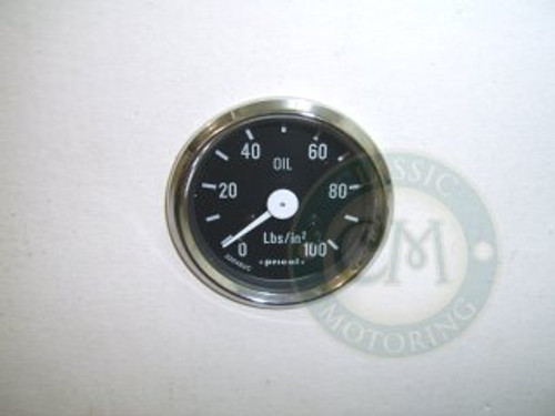 Oil Pressure Gauge - Chrome Rim
