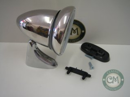 Bullet Mirror (Stainless Steel) - Long Arm, Left Hand
