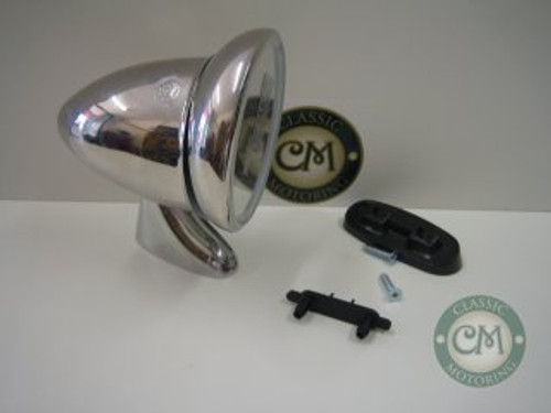 Bullet Mirror (Stainless Steel) - Long Arm, Right Hand