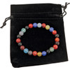 Multi Color Flower Agate Bracelet