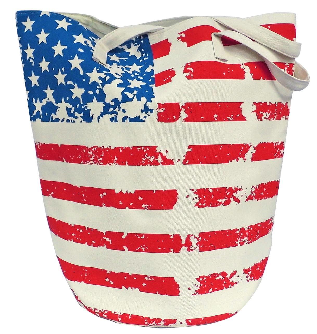 Stars & Stripes Jumbo Bucket Bag