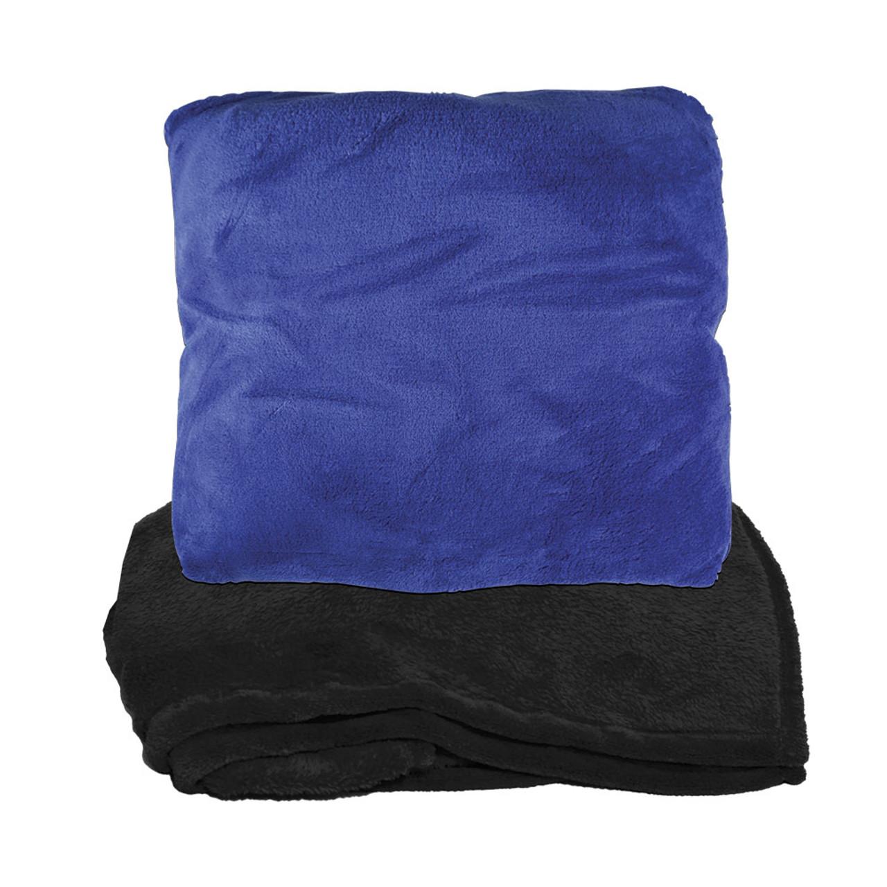 Coral Fleece Zip Up Pillow Blanket