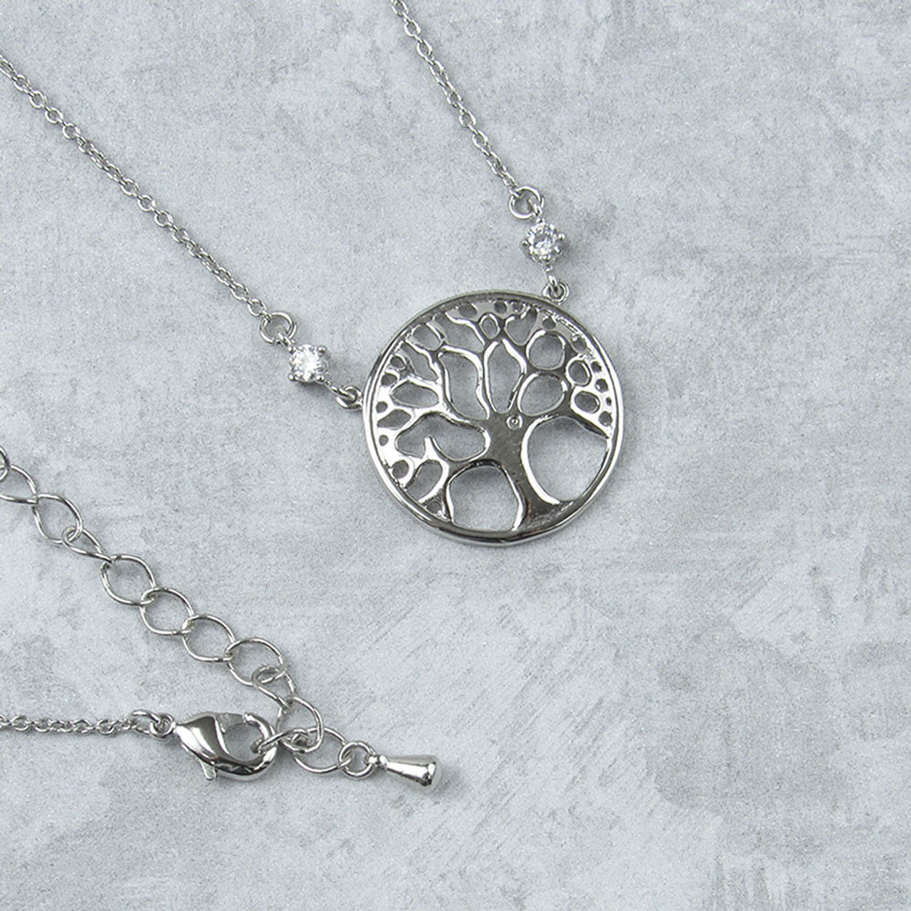cc3ec6486defd Tree Of Life Necklace with Crystals from Swarovski®