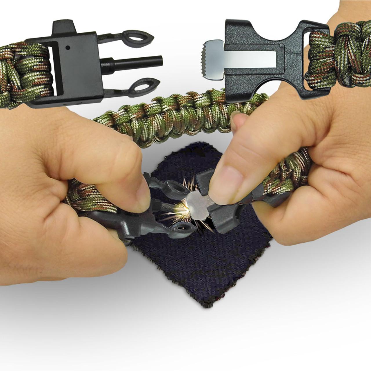 Firestarter Camo Paracord Bracelet