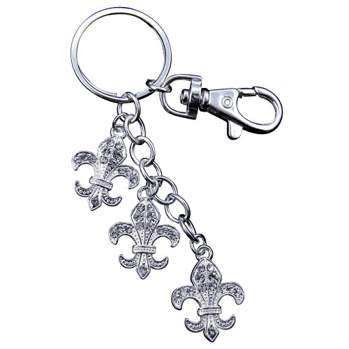Fleur-de-lys Keychain with Purse Hook
