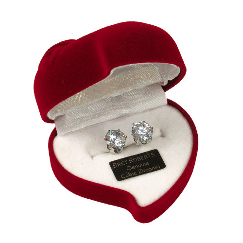 Cubic Zirconia Earrings with Heart