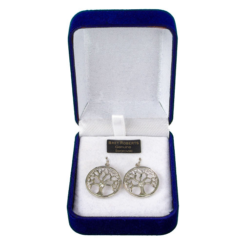 Tree of Life Earrings with Crystals from Swarovski ®