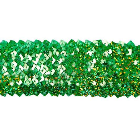 5 Row 1 3//4in Metallic Stretch Sequin Trim Green