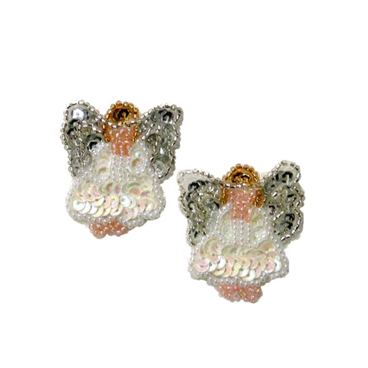 Christmas Angel Beaded Sequin Applique Pack of 2
