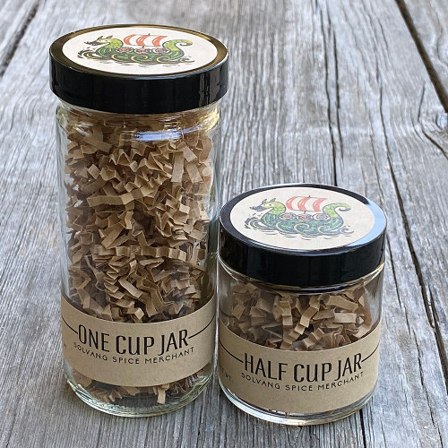 Solvang Spice jar size options side by side